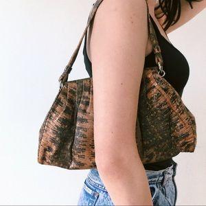 Diane Von Furstenberg DVF Snake Print Shoulder Bag